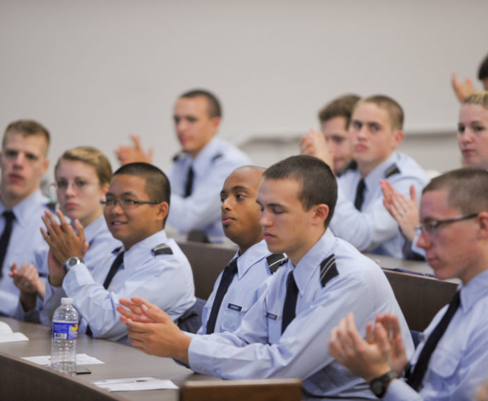 ROTC in class