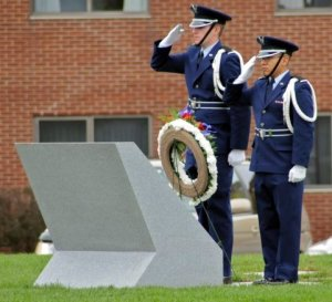 MEMORIAL PLAQUE AFROTC Salute