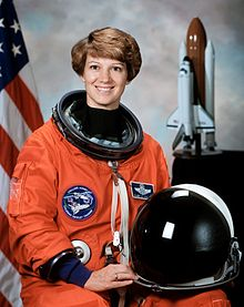 Eileen Collins in NASA spacesuit