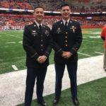 Honorary captains at a Syracuse football game