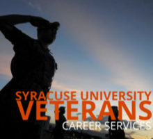veteran shadow saluting with veteran career services