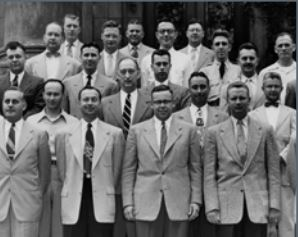 a group of male student veterans in the 1950s