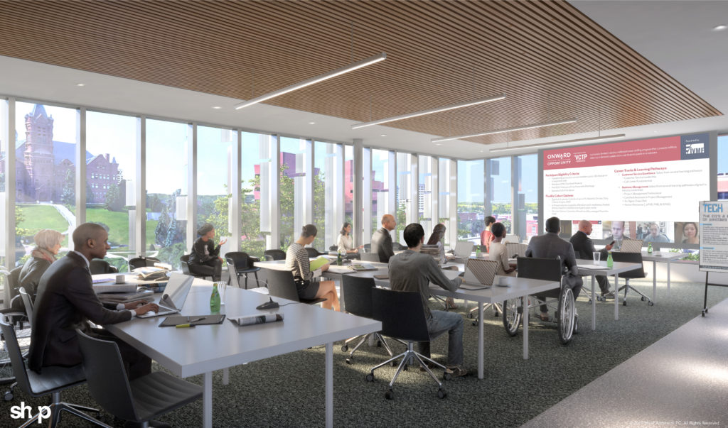 NVRC rendering of the IVMF conference room