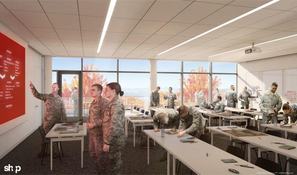 NVRC ROTC classroom rendering