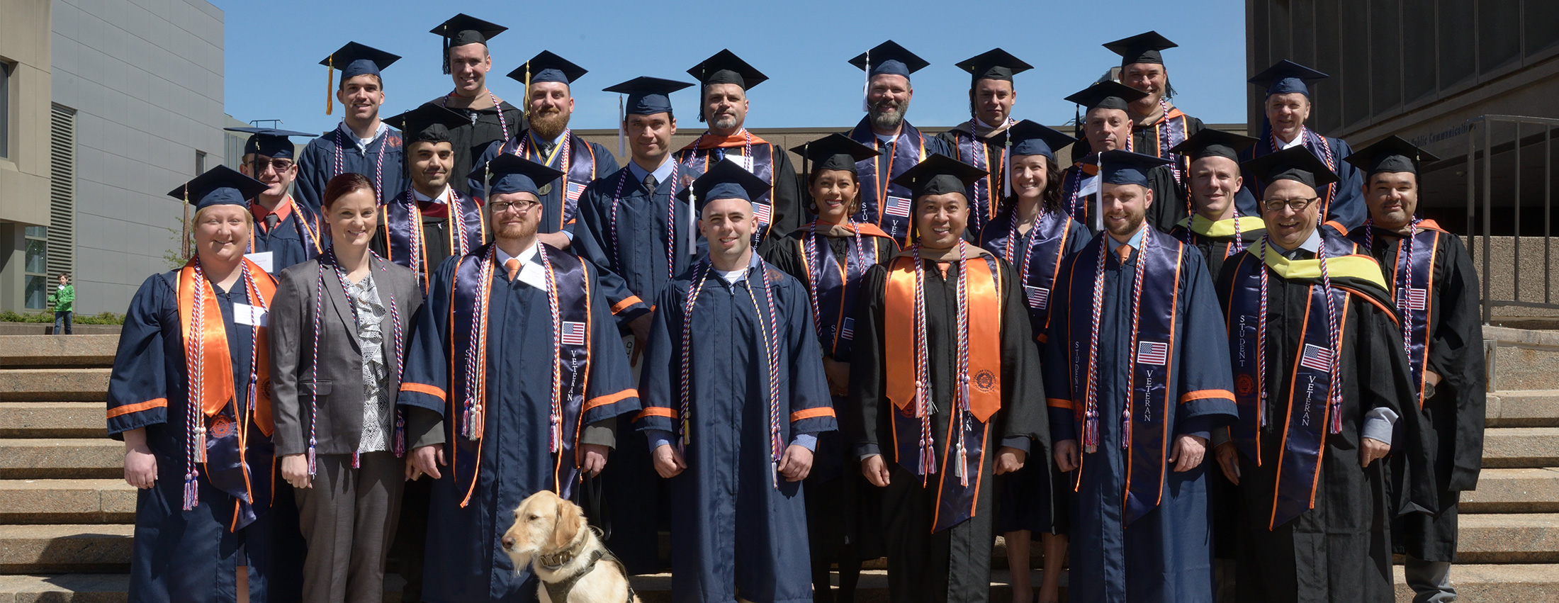 Student veterans organization (SVO) at the 2018 Commencement