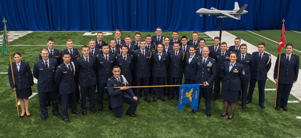 Group picture of Air Force ROTC Cadets