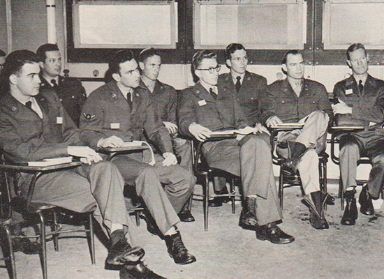air force cadets in class for intelligence training