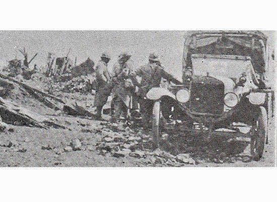 Picking up the wounded after battle, Ferme Porte, France