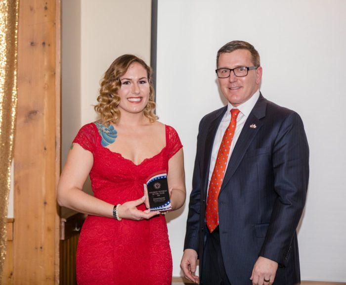 Katy Quartaro 2018 student veteran of the year.
