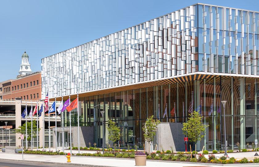 Front of National Veteran Resource Center building.