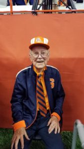 Dr Larry Myers at the Syracuse University Football game for Hometown Hero.