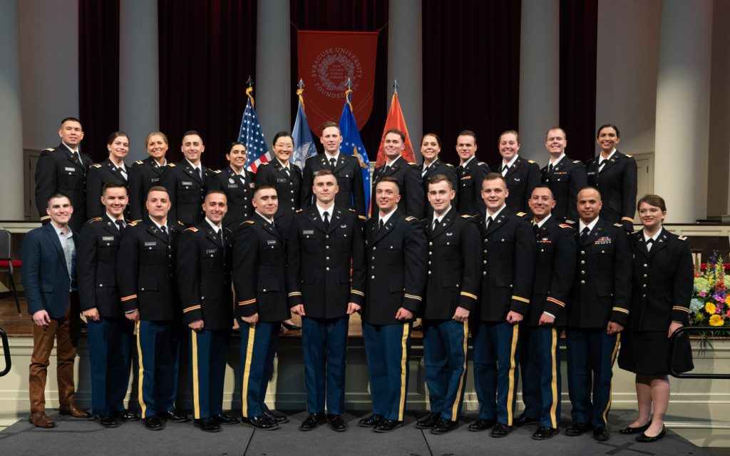 2019 Commnencement for Army and Air Force ROTC.