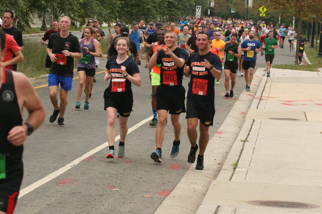 ROTC cadets partaking in 10-miler