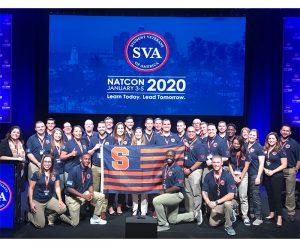 Group of Syracuse University student veterans at NatCon 2020