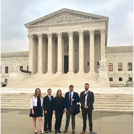 Student Veterans outside Supreme Court