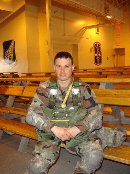 Jay Knight sitting in uniform.