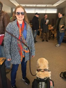 Ginger Peterman and her service dog Puma