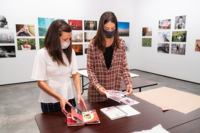 Jennifer DeLucia and Frankie Bartolomie in NVRC Gallery