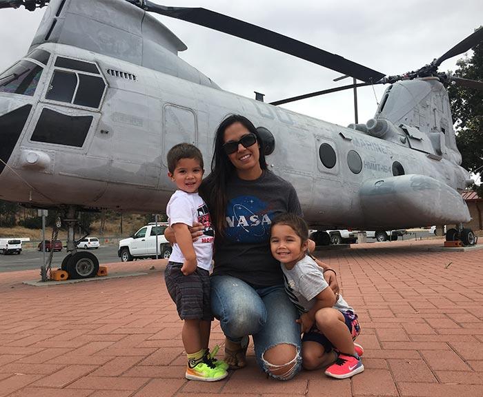 Jennifer Vollbretch with her kids.