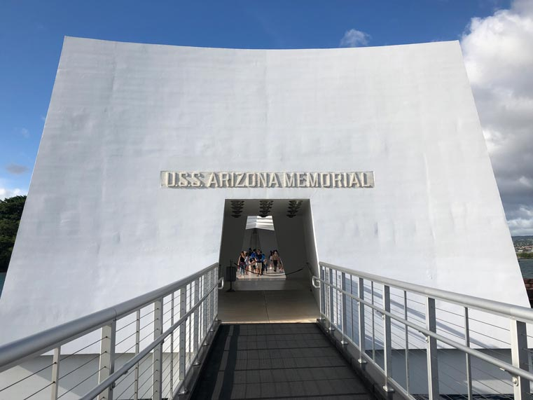 Entrance to USS Arizona Memorial.