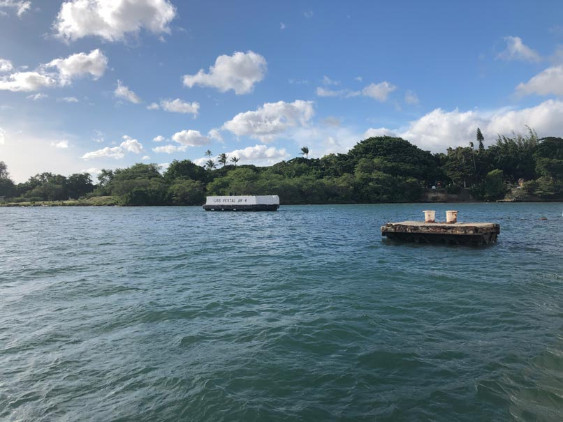 Part of USS Arizona and USS Vestal Memorial