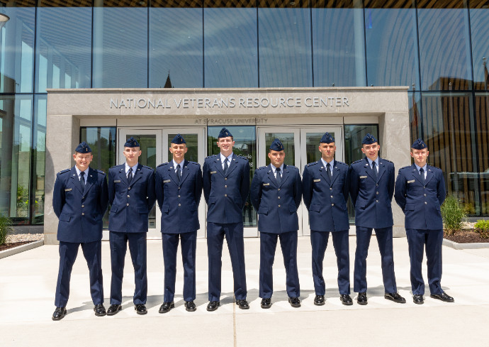 Air Force ROTC 2021 Commissioning Group photo