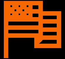 Orange flag icon