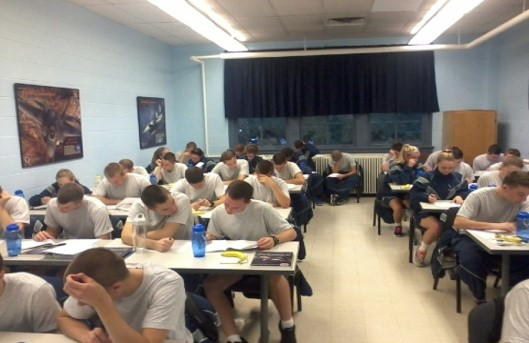 AFROTC Classroom in session