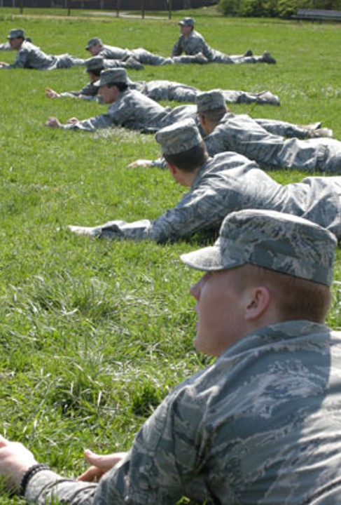 AFROTC ground exercise.