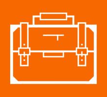 orange icon briefcase