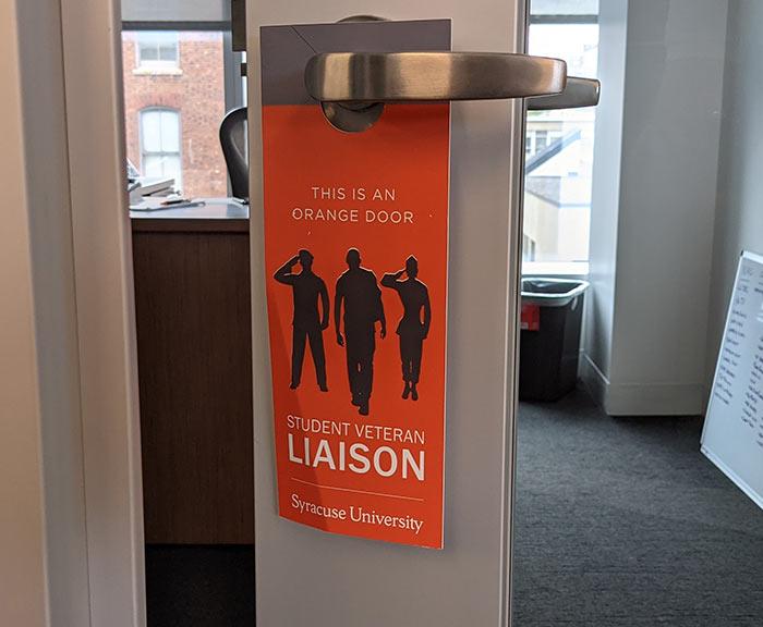 Orange Door Veteran Liaison tag